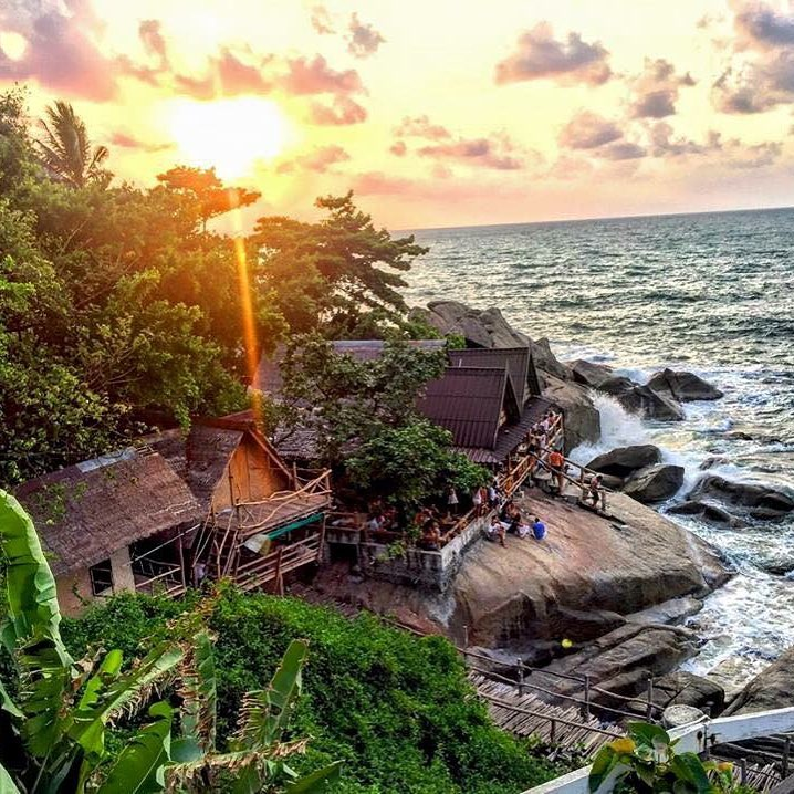 our magical yoga retreat location in Ko Phangan thailand