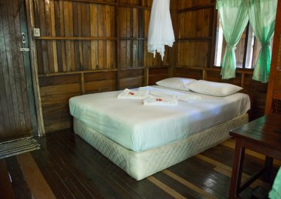 Double bed @ Bamboo Huts