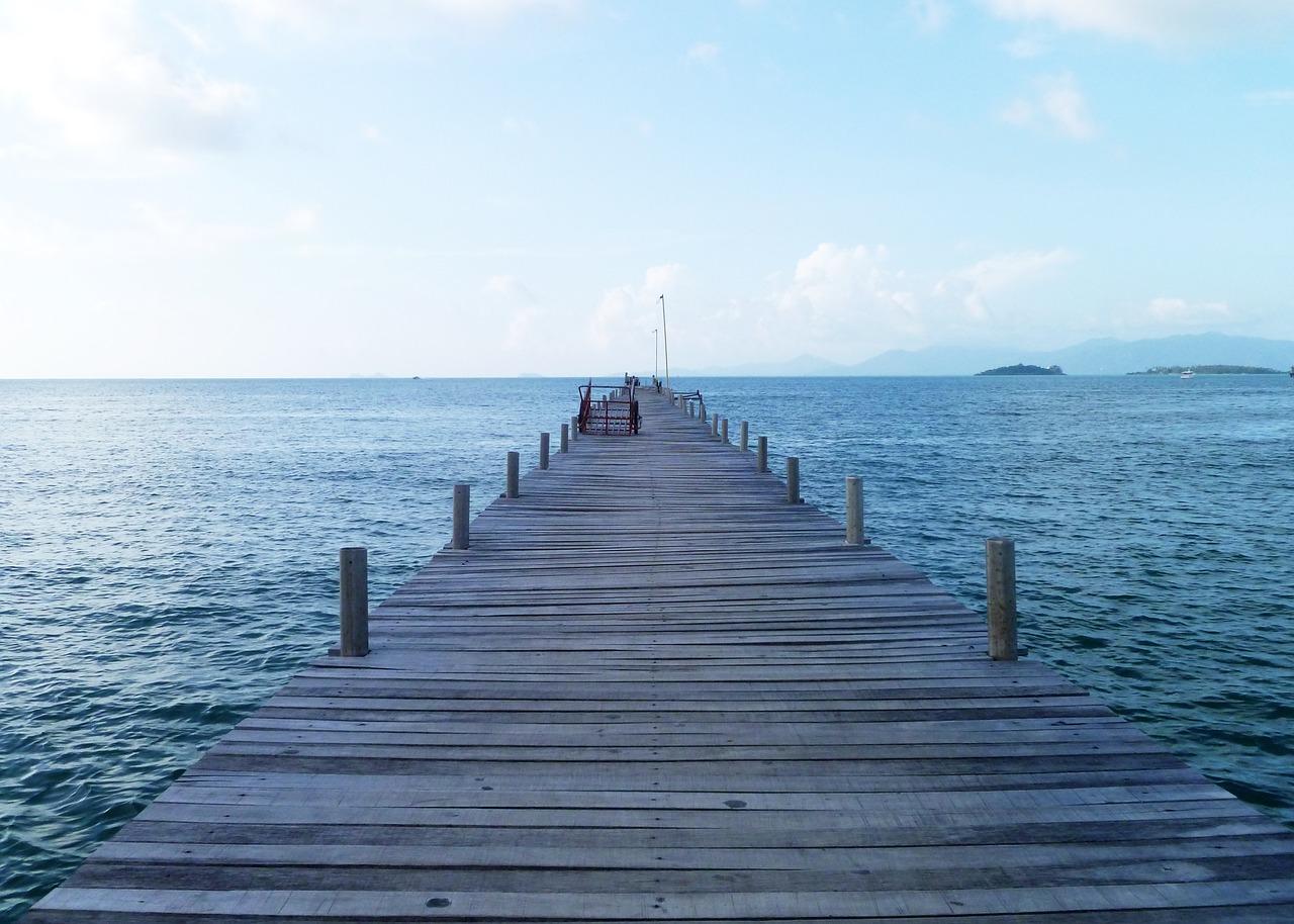 Thai ferry pier