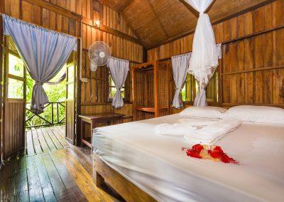 Bamboo Huts Inside Room