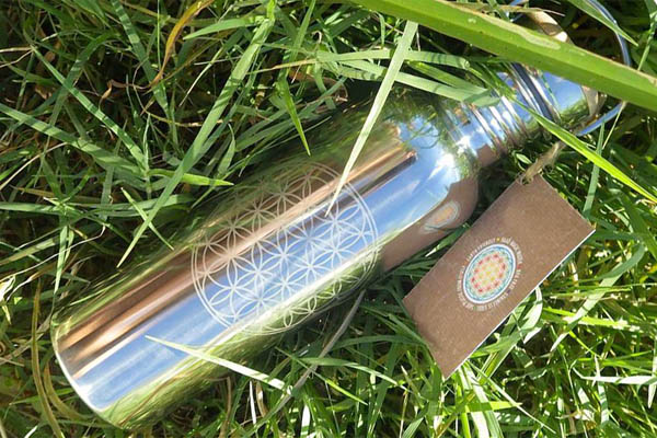pure flow yoga flower of live water bottle